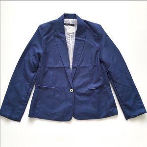 NWT Zara Navy Limed Blazer